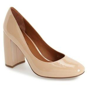 Linea Paolo Nude Patent Pumps 6M Block Heel